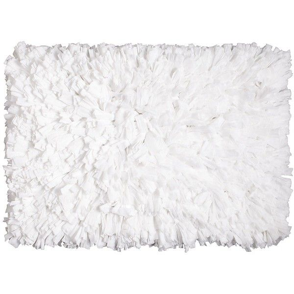 Pier One White Fluffy Shag Rug By None Via Polyvore White Fluffy Rug Fluffy Rug White Shag Rug