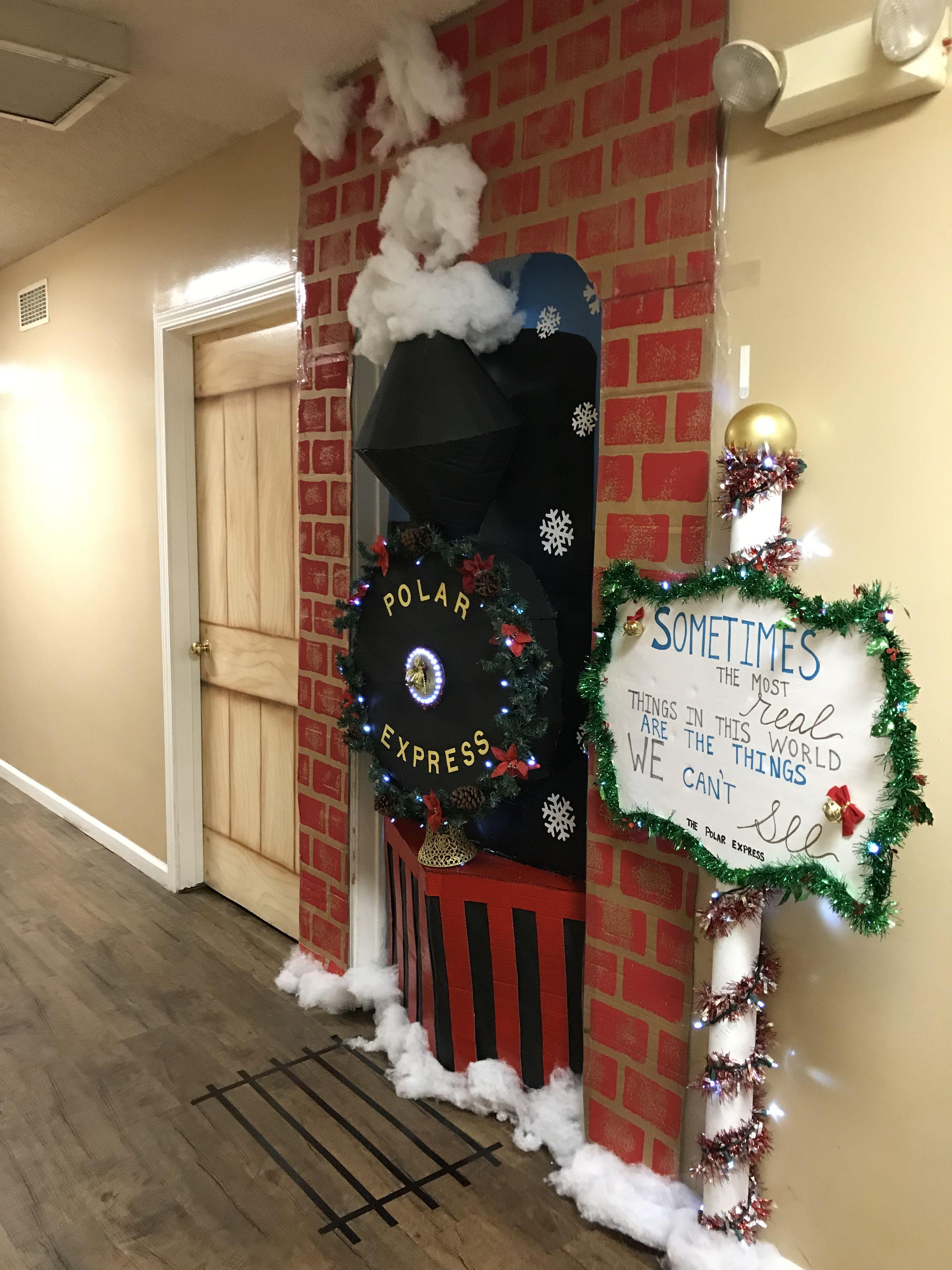 Polar Express Door Christmas Door With Images Holiday Door