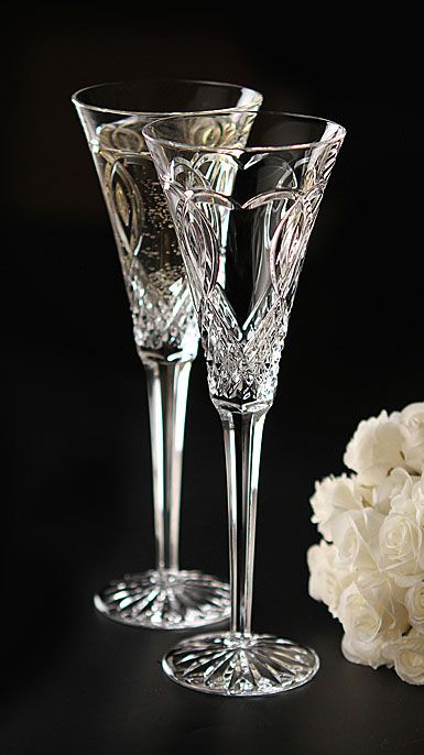 Waterford Wedding Toasting Flute, Pair PRESENT EACH AND EVERY DETAIL WITH BEAUTY!!!!!!!!! ~D~
