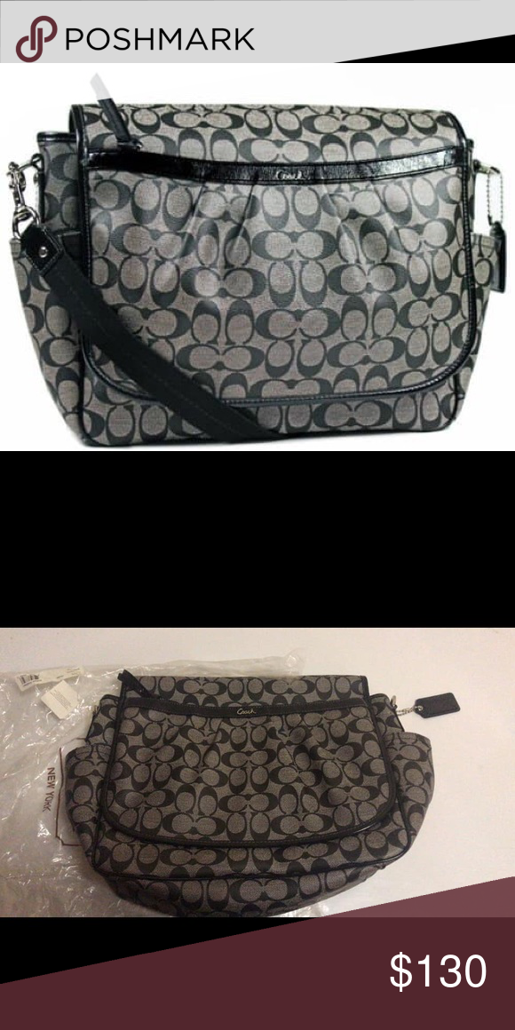 Coach Signature Canvas Baby Messenger Bag Black Brand new %100 authentic  Coach Bags Baby Bags 7892b403851fe