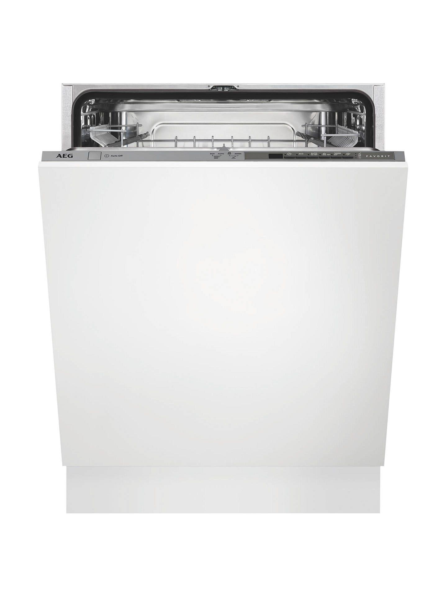 AEG FSB41600Z Integrated Dishwasher, Stainless Steel