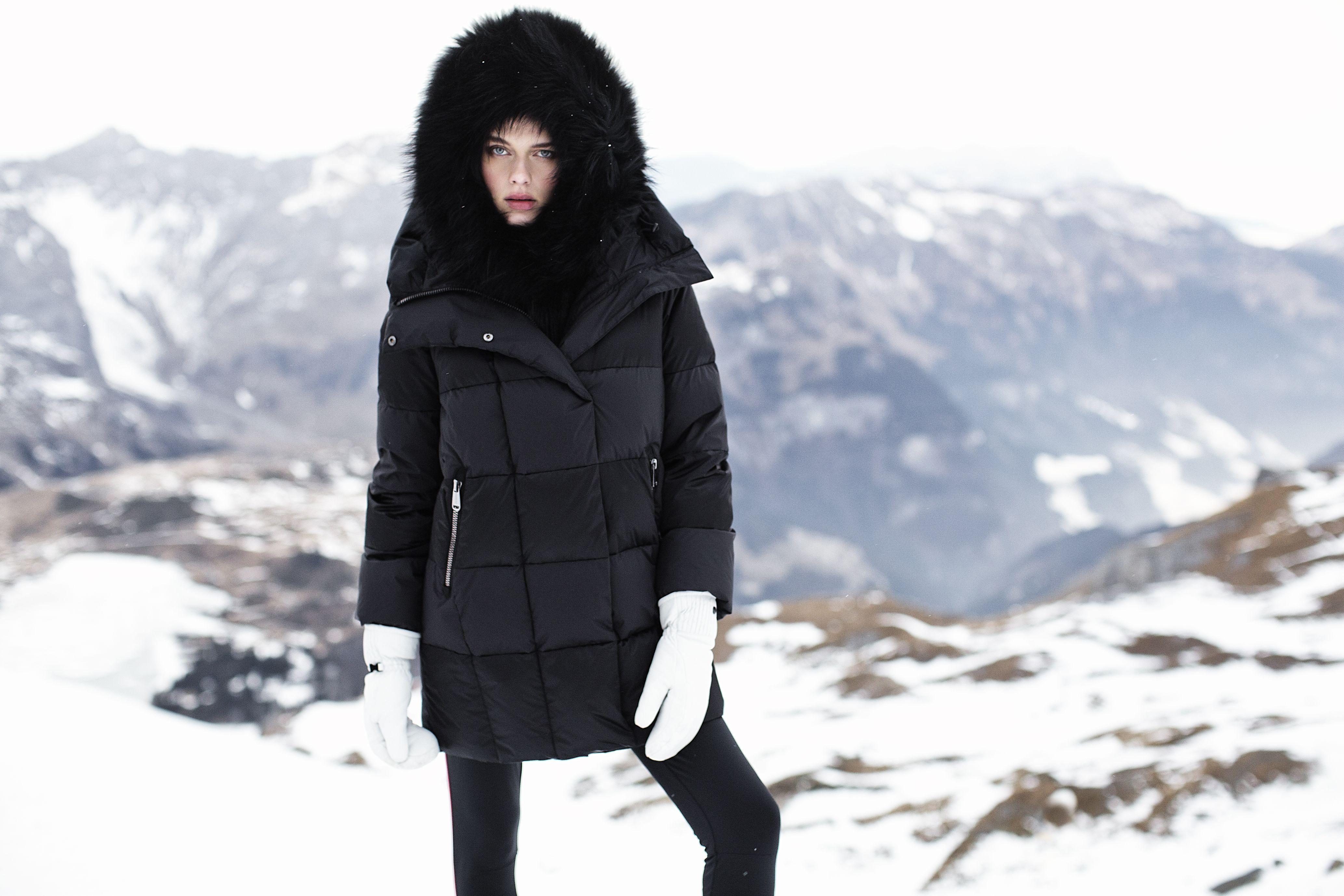 Mens Fur Ski Parka Hood