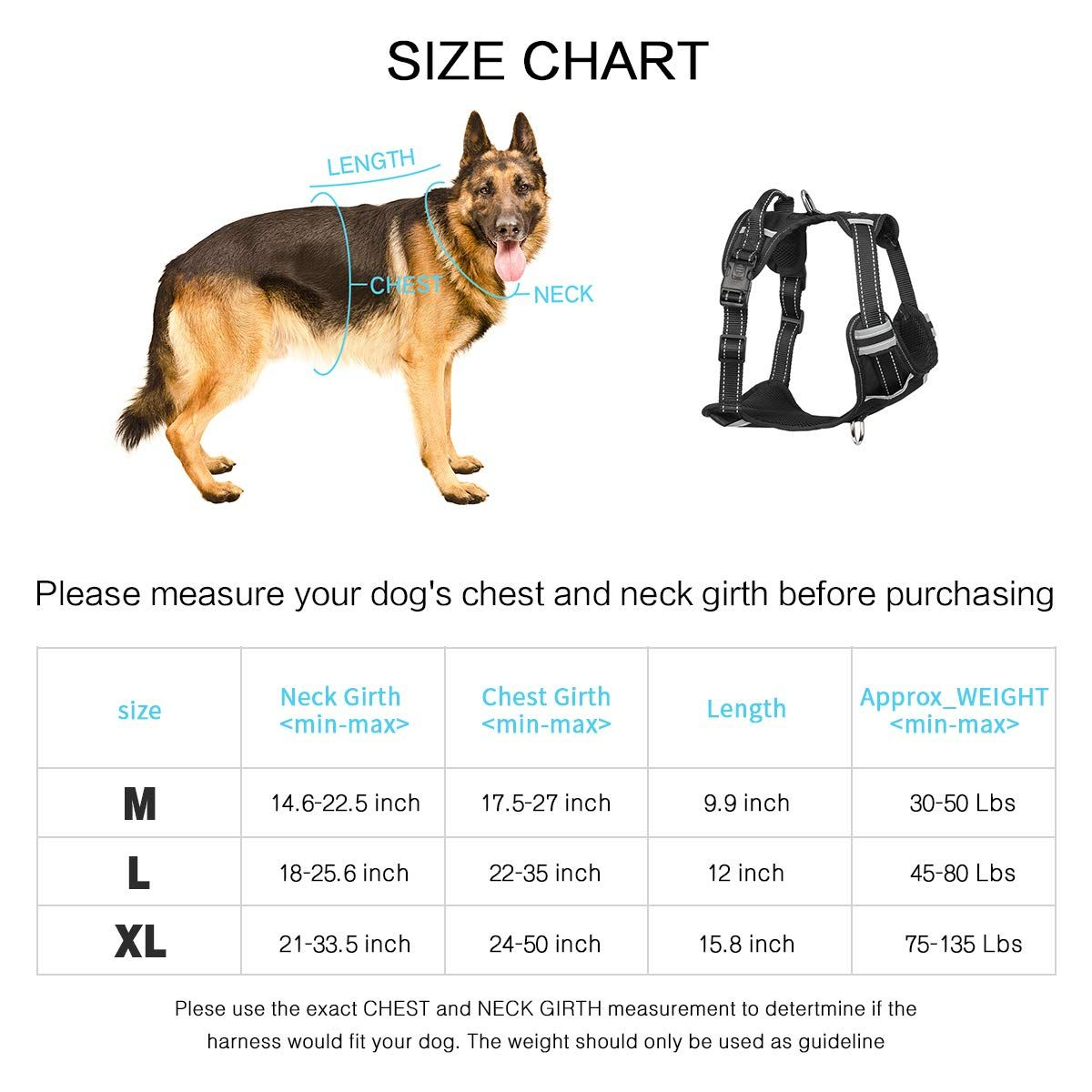 Winsee Dog Harness No Pull Walking Pet Vest Harness With Handle
