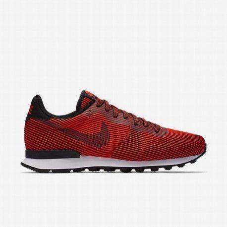 nike internationalist black,Nike Men's Black/Bright Crimson/Black  Internationalist Knit Jacquard Moire QS Shoe