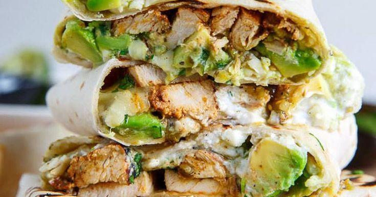 CHICKEN & AVOCADO BURRITOS - RE Fitness,  #Avocado #Burritos #Chicken #Fitness