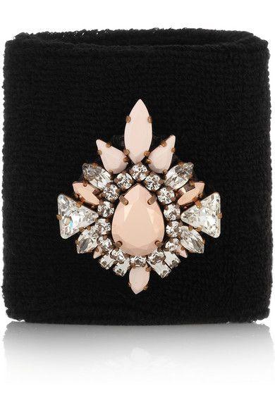 ShouroukWimblee Swarovski crystal-embellished stretch-terry wristband #NETASPORTER