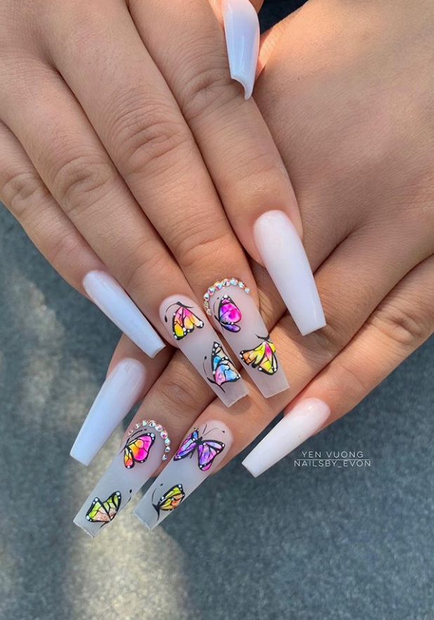 54 Awesome Acrylic Coffin Nails Design Ideas For Fall Page 29 Of 54 Latest Fashion Trends For Woman In 2020 Long Acrylic Nails Coffin Nails Designs Fashion Nails