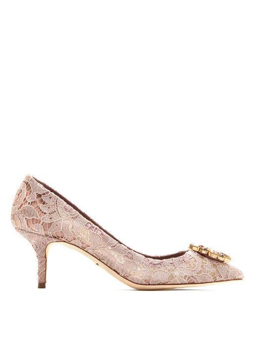 Crystal-Embellished Lace PumpsDolce & Gabbana bLv7TC