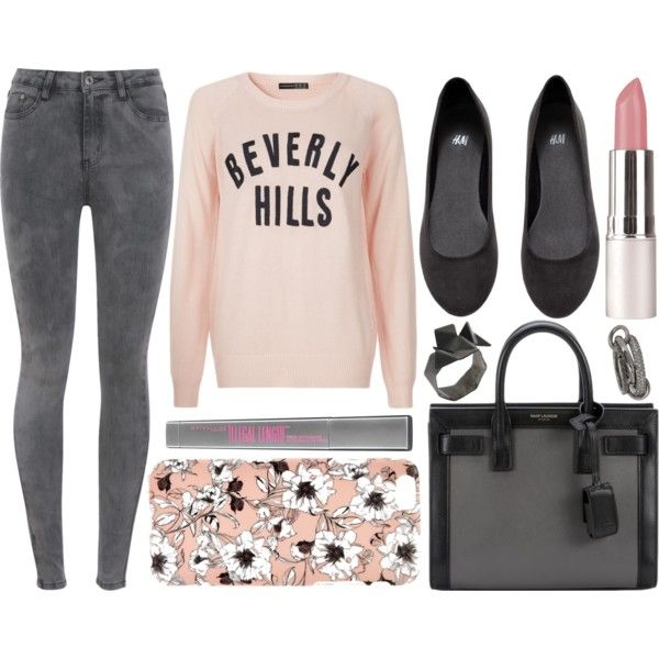 street style by sisaez on Polyvore featuring polyvore fashion style H&M Yves Saint Laurent First People First SPINELLI KILCOLLIN Maybelline