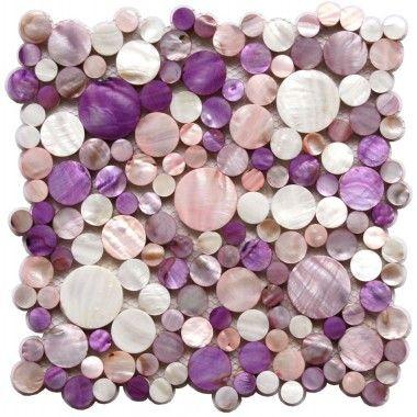 Mosaique Nacre Carrelage Redondo Violet Purple Bathrooms Tiles