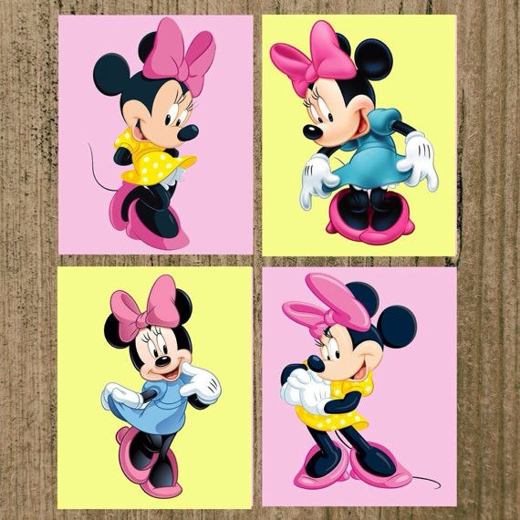 PRINTABLE Minnie Mouse Nursery Prints Set of 4 by MoreThanWords17 ...