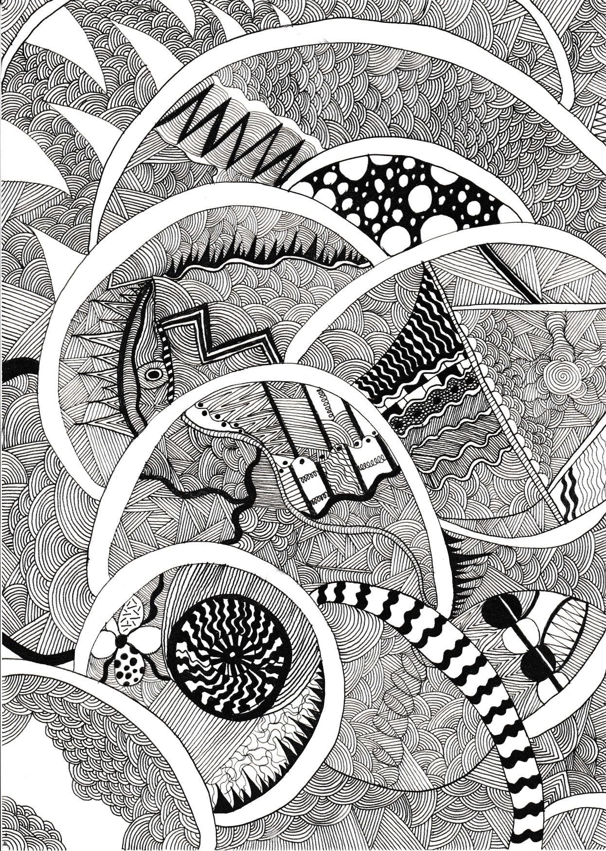 zzzz zzzz adlı kullanıcının doodle art panosundaki Pin