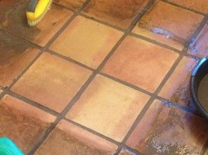 30 Year Old Saltillo Tile Floor Brought Back To Life With Our Stone Age