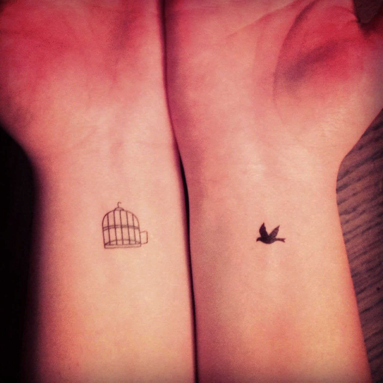 Beautiful Birdcage Tattoo On Wrist Bct1204 Jpg 1 280 1 280 Pixels Cage Tattoos Best Couple Tattoos Couple Tattoos
