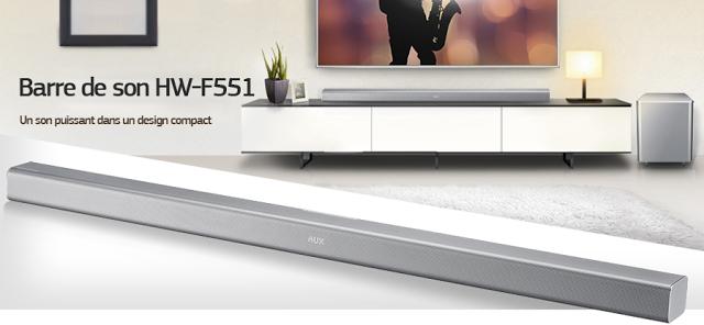 #Samsung HW-F551 - Nouvelle barre-de-son 2.1 #Bluetooth avec caisson-de-basses sans-fil