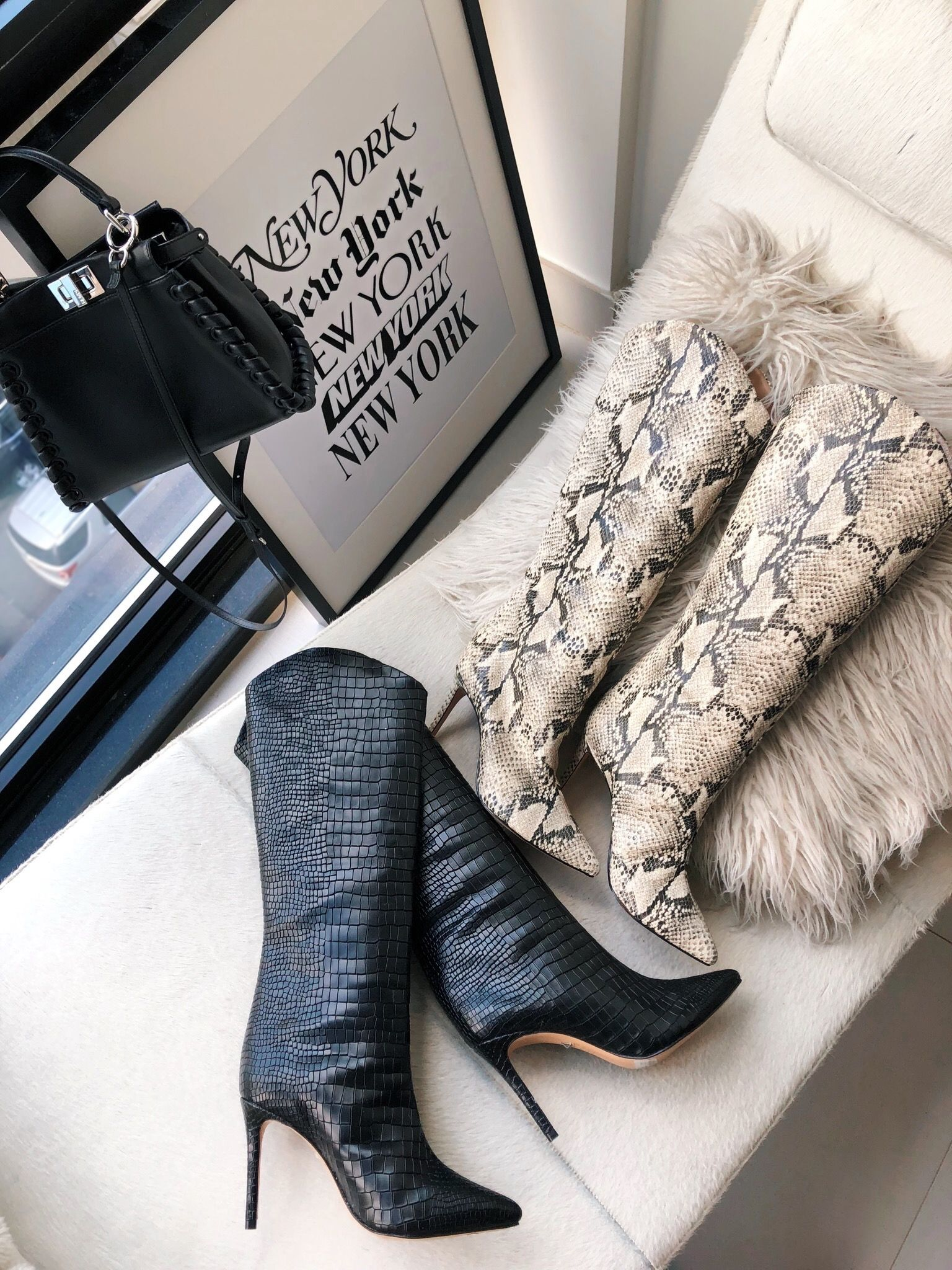 Bigdropnyc Snakeskin Shoes Outfit Snake Print Boots Snakeskin Boots