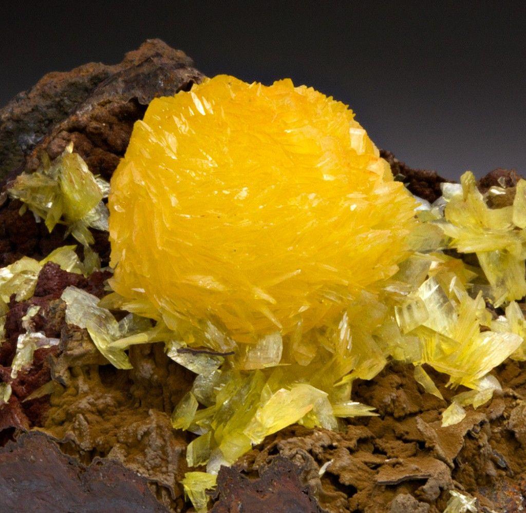 Paradamite - Locality: Ojuela Mine, Mapimí, Mun. de Mapimí, Durango, Mexico - Convoluted ball of paradamite crystals