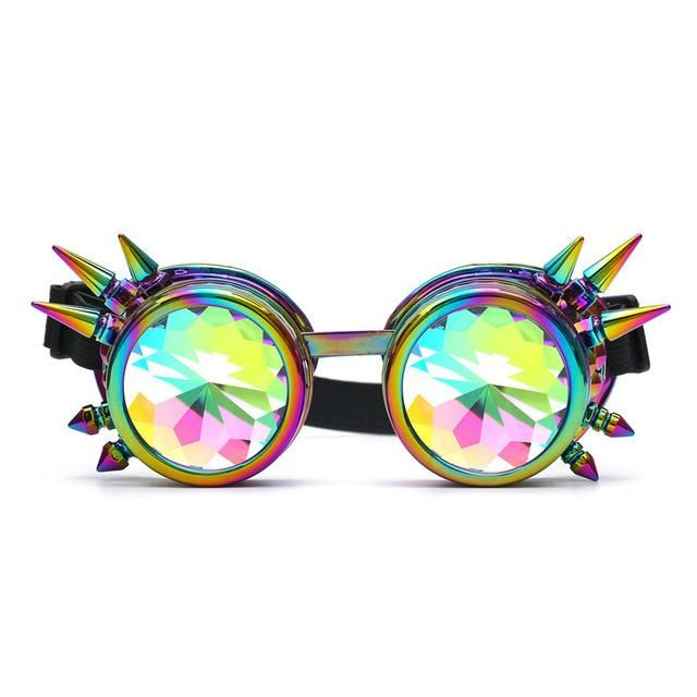 901fa4a6887e Psychedelic Spiked Kaleidoscope Goggles in 2019 | EDC | Festival ...