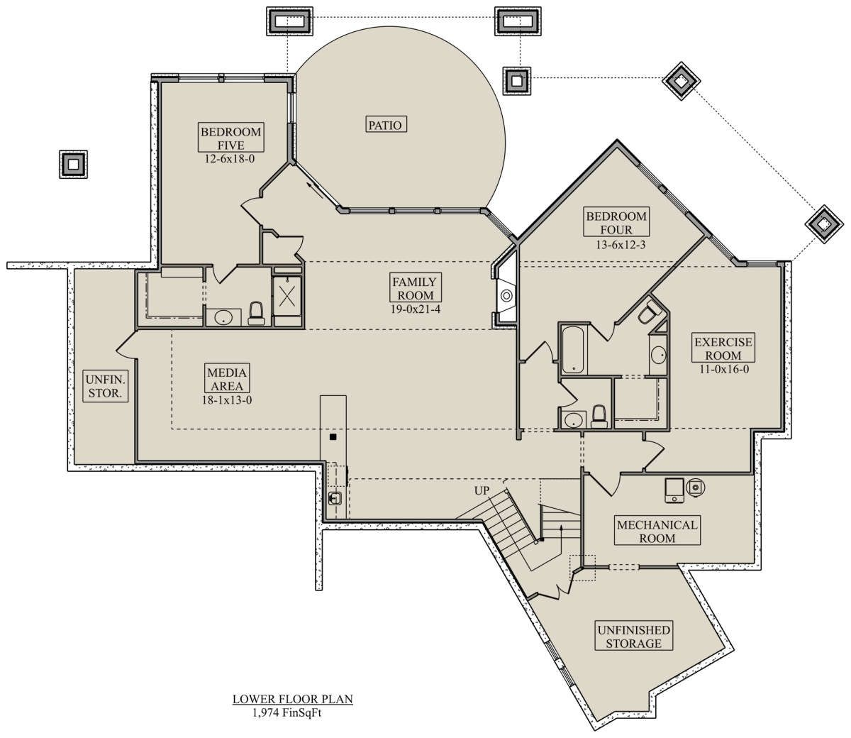 House Plan 5631 00107 Contemporary Plan 3 587 Square Feet 3 Bedrooms 4 Bathrooms House Plans Contemporary House Plans House Floor Plans