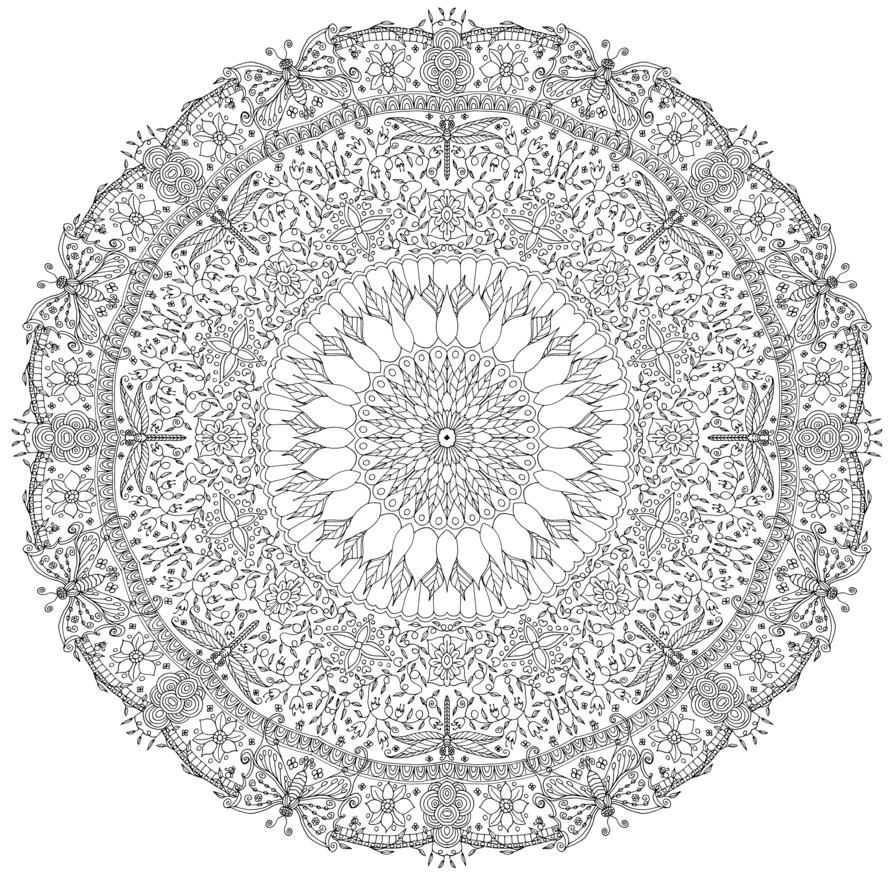 Mandala 695, Garden Mandala by WelshPixie | interesujące | Pinterest ...