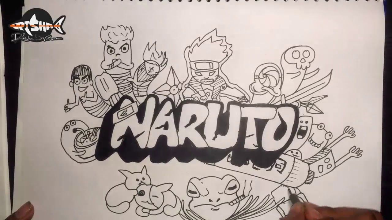 Narutojust a doodle learn doodling name doodling and create your ow