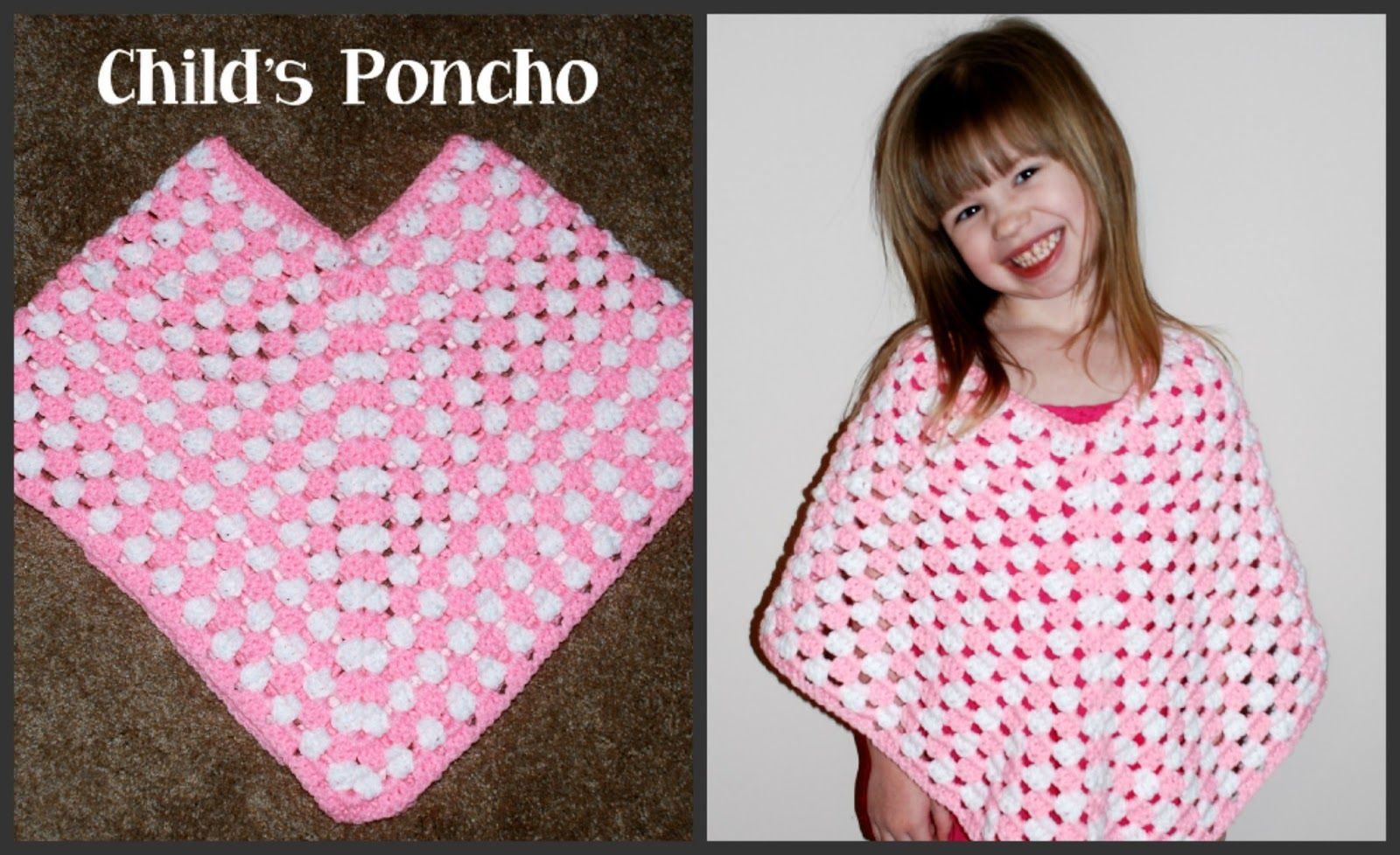 Crochet Child's Poncho Tutorial with Video