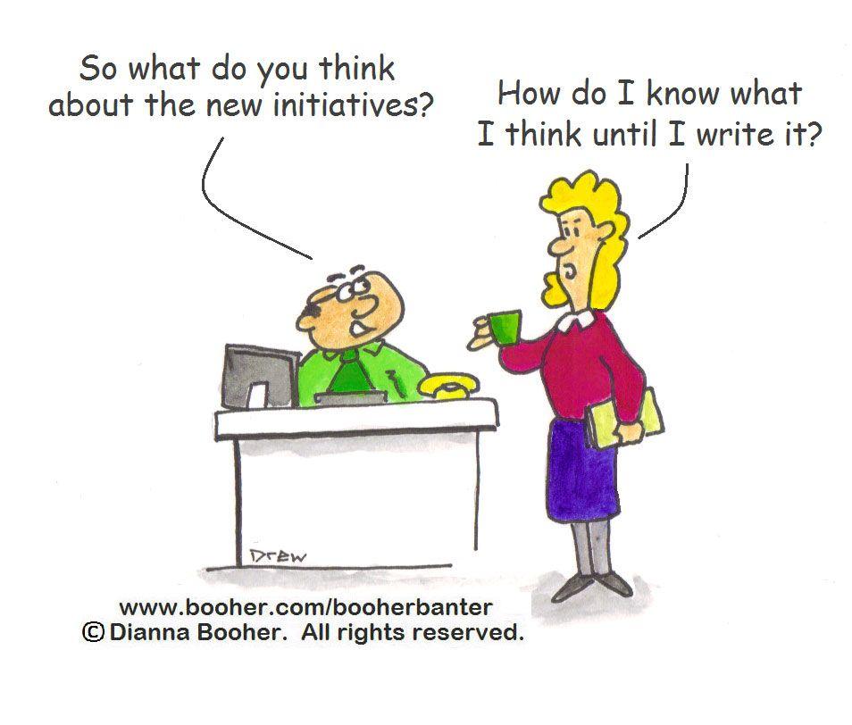Cartoon #4 http://www.booher.com/booherbanter #cartoon #business #communication