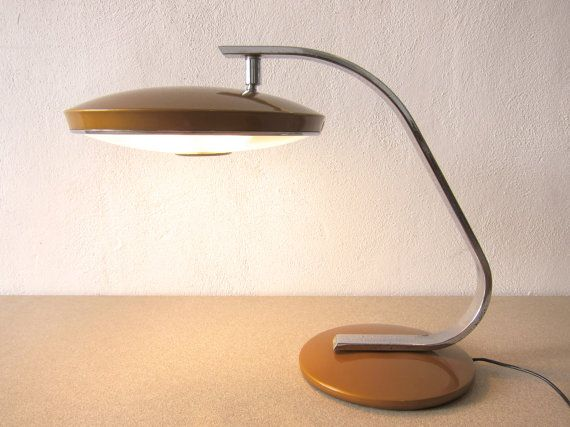Vintage Mad Men Table Lamp Mid Century Office Lamp In Great