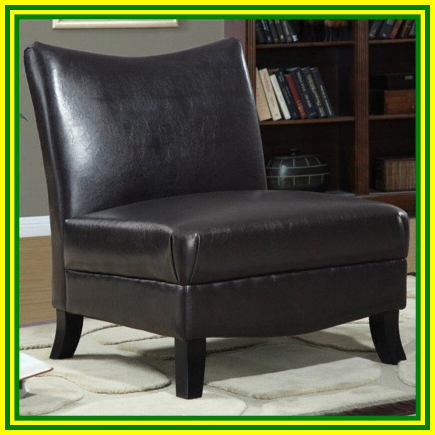 armless faux leather chair