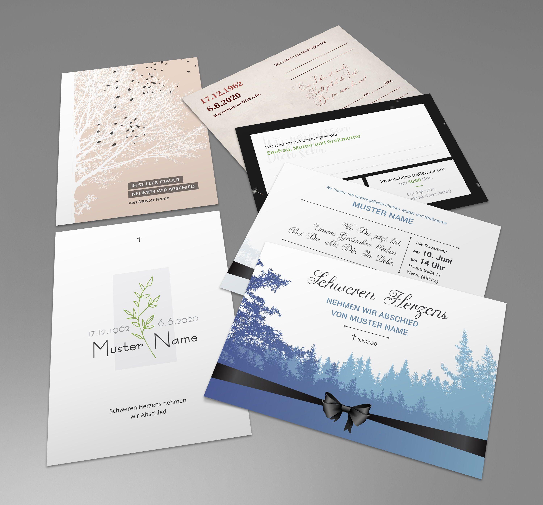 Trauerkarten Vorlagen Fur Einladungen Zu 8