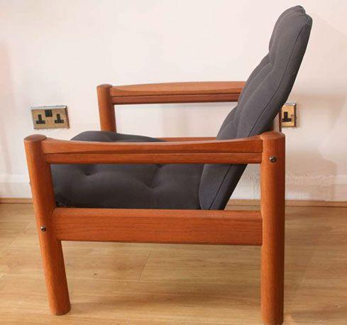 Danish Domino Mobler Teak Arm Chair Teak Armchair Chair Armchair