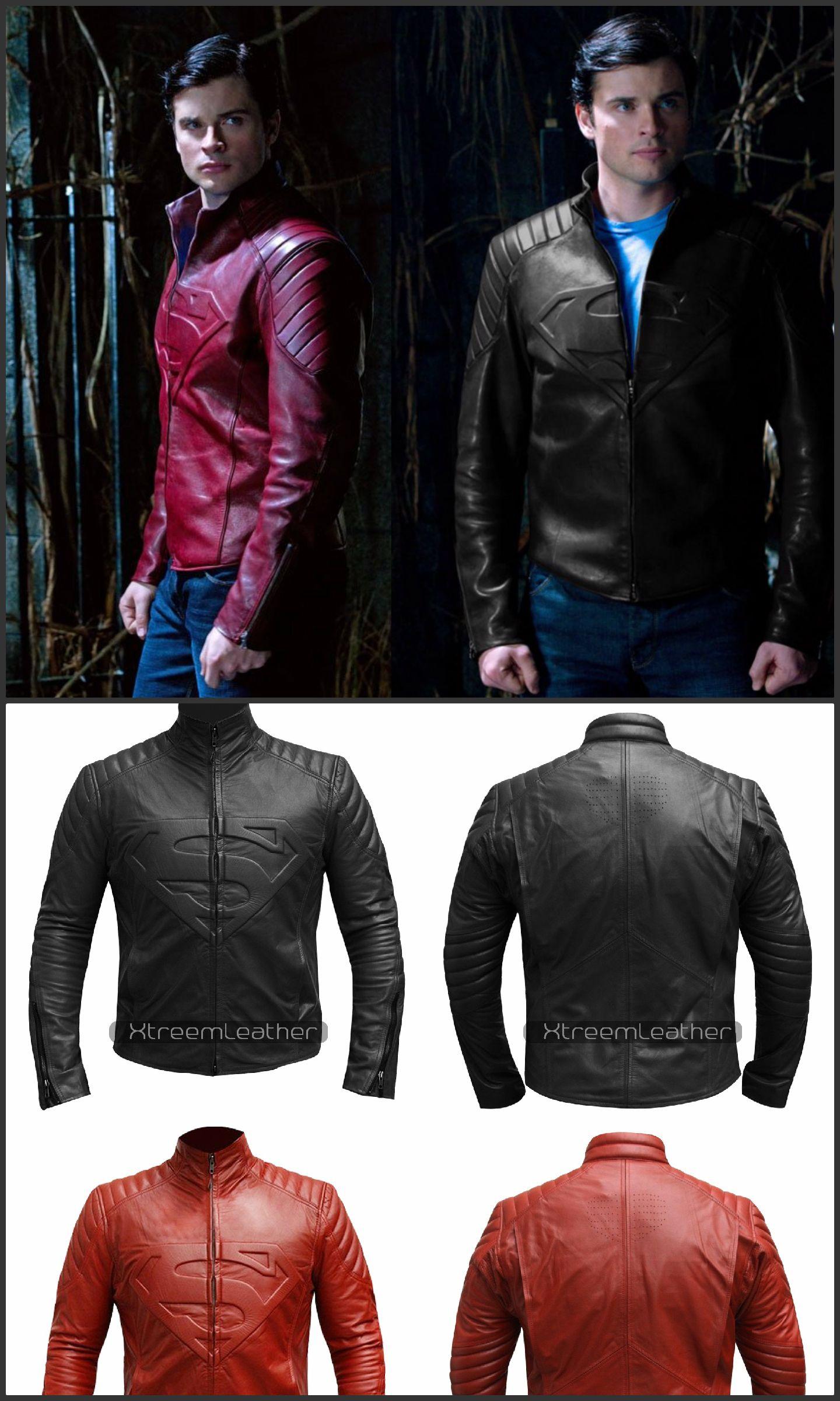 Superman Smallville Motorcycle Man of Steel Shield Leather