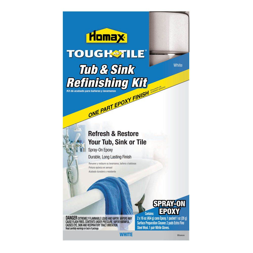 Homax® Tough As Tile® Spray On Tub, Sink & Tile Refinishing Kit ...