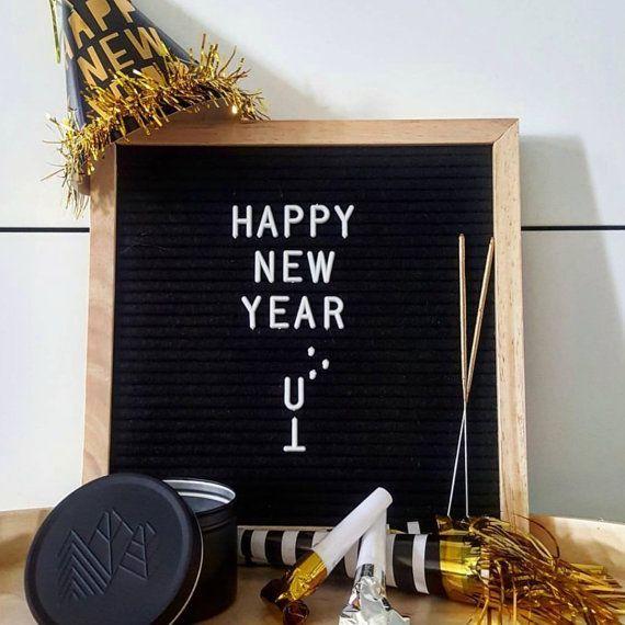 black felt oak frame letter board 25cm x 25cm by alphaboardco