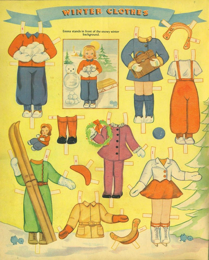 Picture Cut Out Dolls