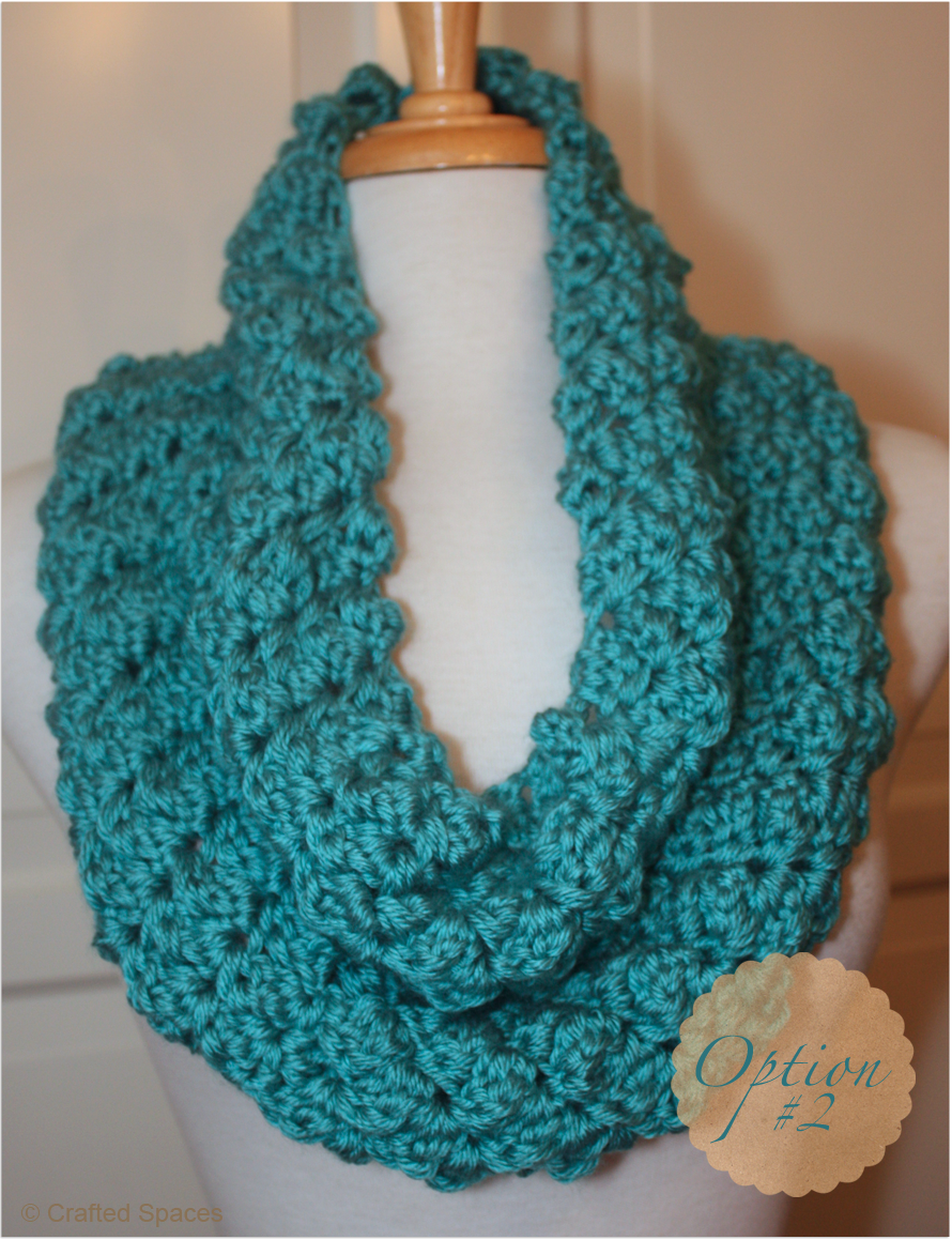 Crafted Spaces: Crochet Cowl With Two Strands Of Yarn | Crafts ...