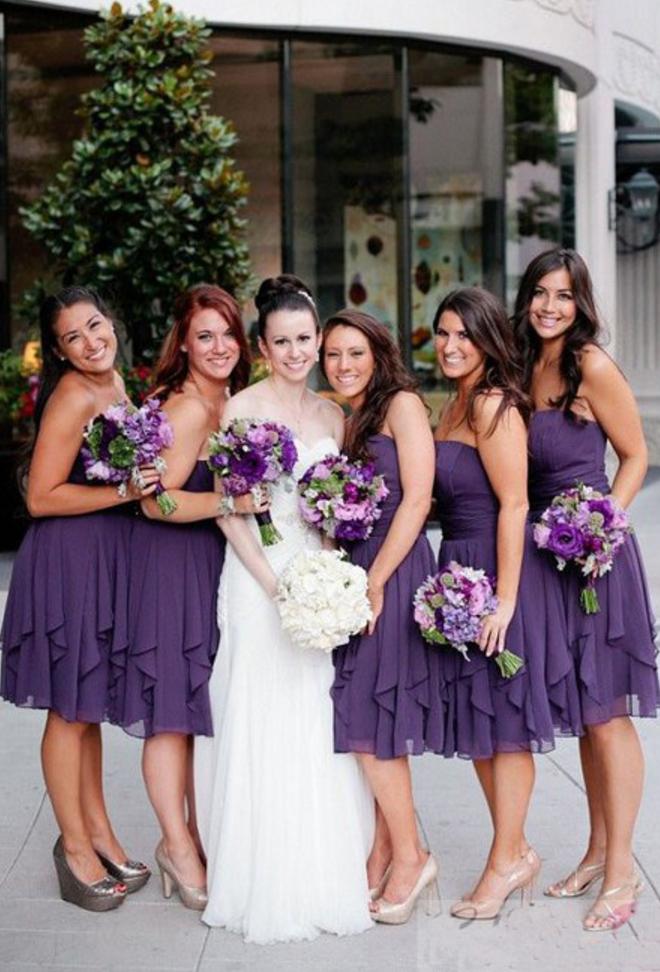 Cheap bridesmaid dresses ,Short Custom Bridesmaid Dress,purple ...