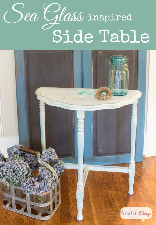 Sea Glass Table Makeover Glass Table Chalk Paint Furniture Paint Furniture