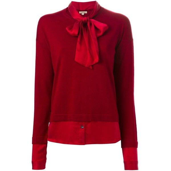 P.A.R.O.S.H. Band Collar Bow Sweater ($455) ❤ liked on Polyvore ...