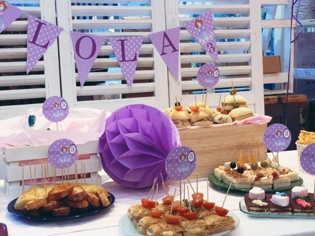 decoracin fiesta infantil princesa sofa