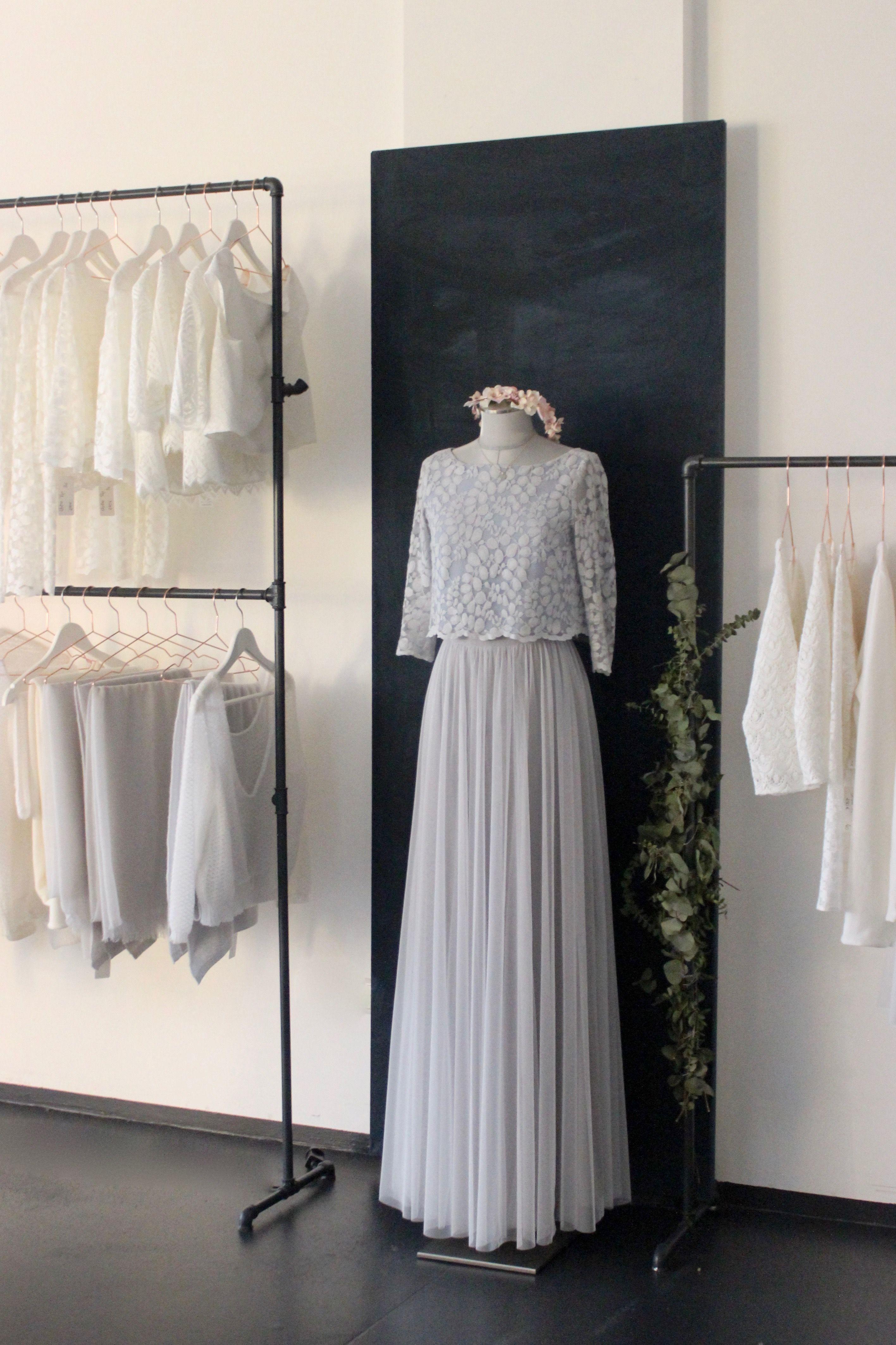 Boho Hochzeitskleider mit Softtüll und moderner Spitze, in Ivor