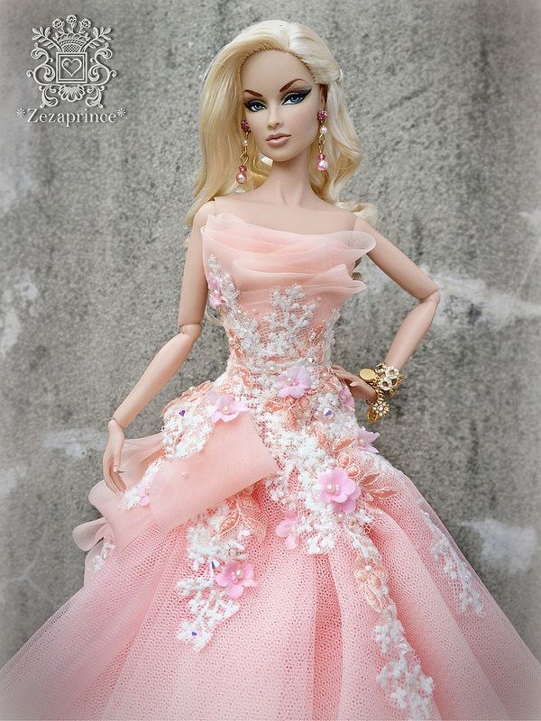 Barbie in pink gown,Flickr photo
