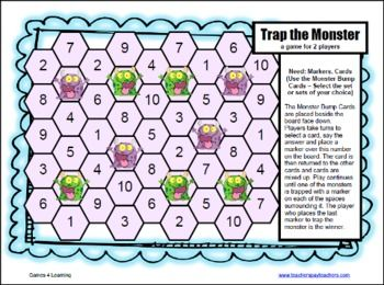 Monster Math Division Games for Fact Fluency | math ...