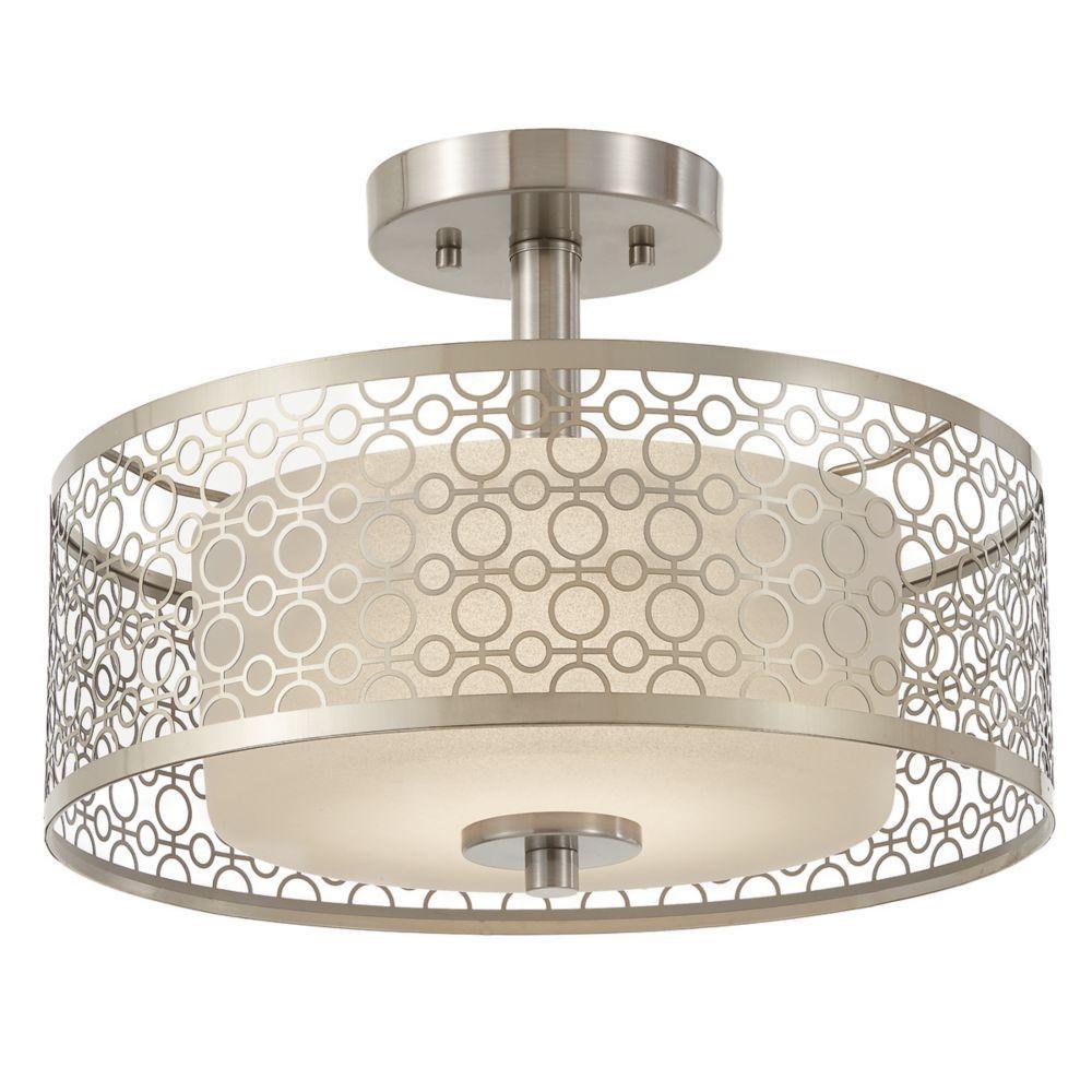 Awe Inspiring Toberon Collection 1 Light Brushed Nickel Led Semi Beutiful Home Inspiration Semekurdistantinfo