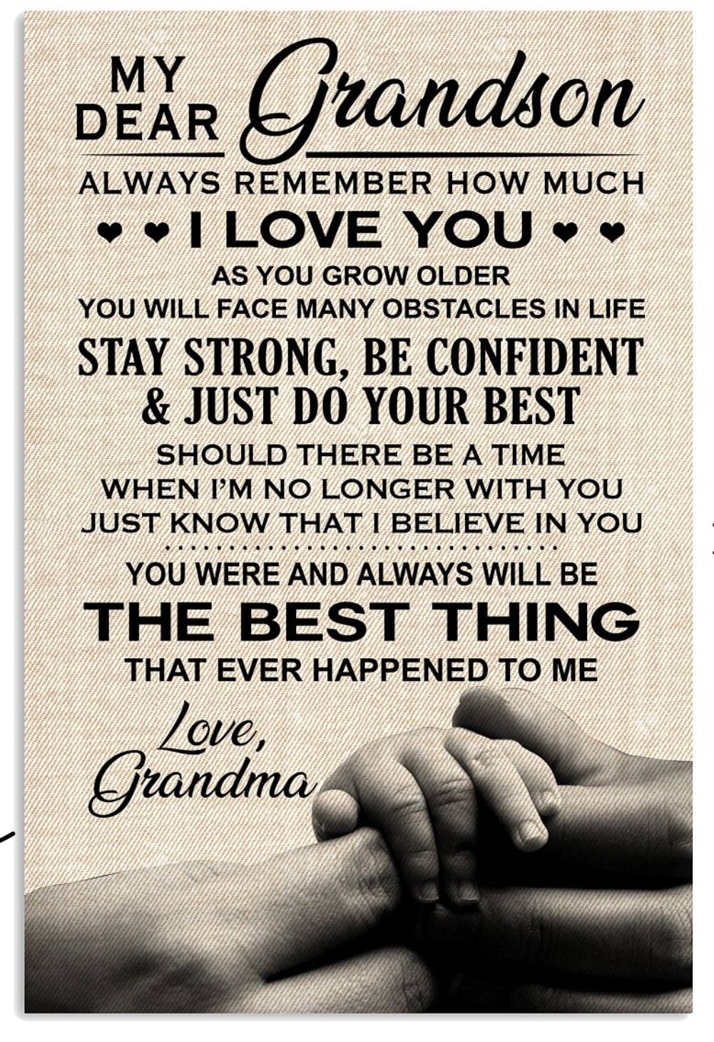 My Dear Grandson Quotes About Grandchildren Grandma Quotes Grandparents Quotes What should i write in my granddaughter