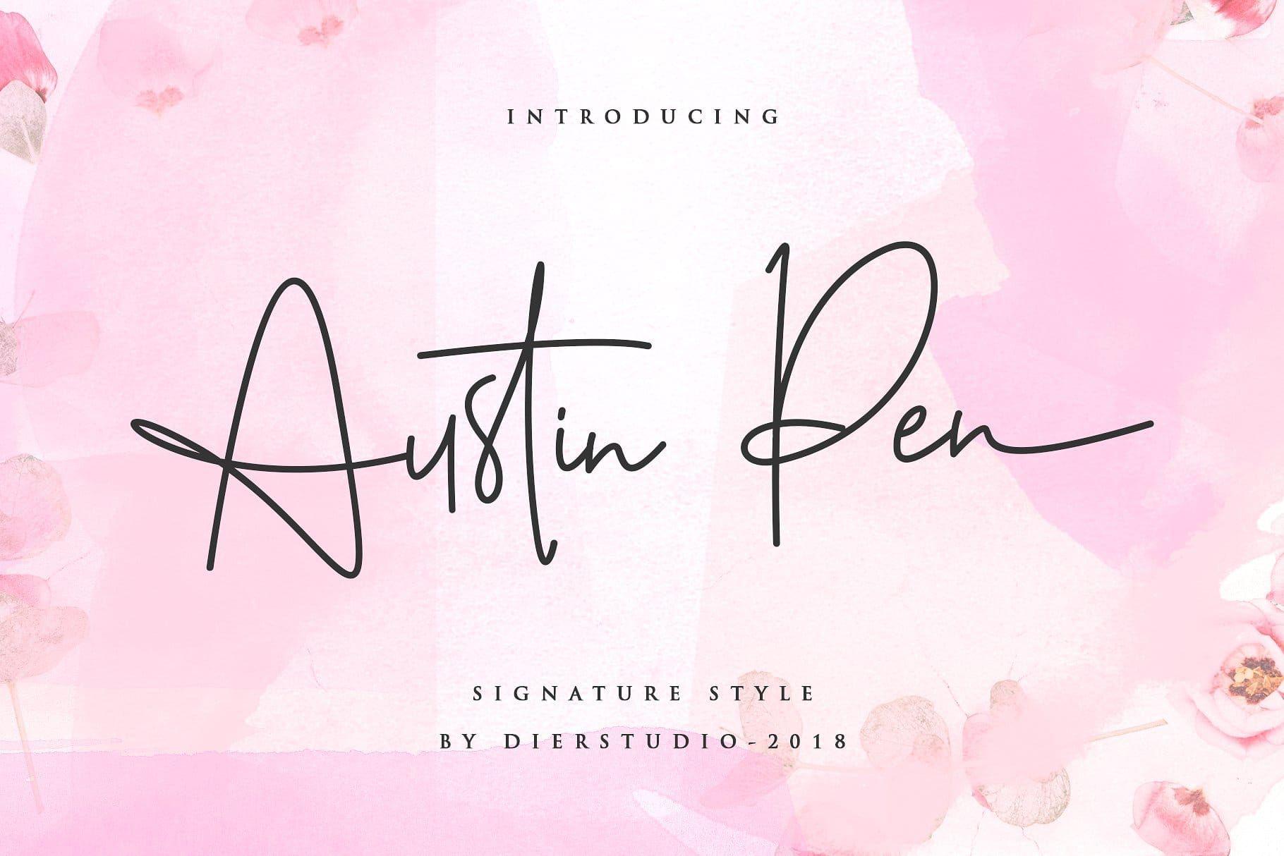 Download Austin Pen Handwritten Signature Font