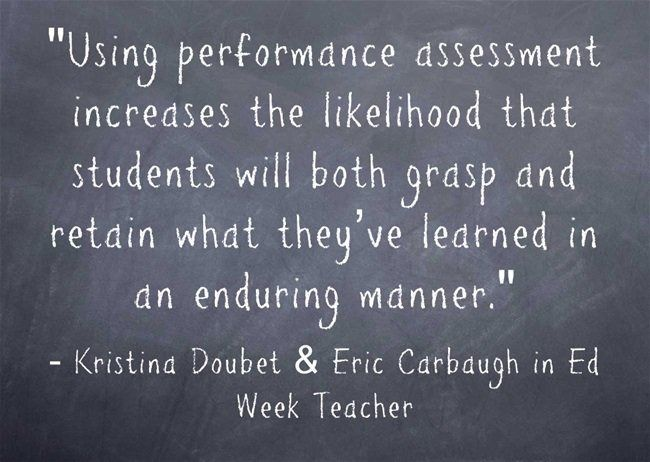 Get tips for using performance assessment in this Ed Week Teacher - performance assessment