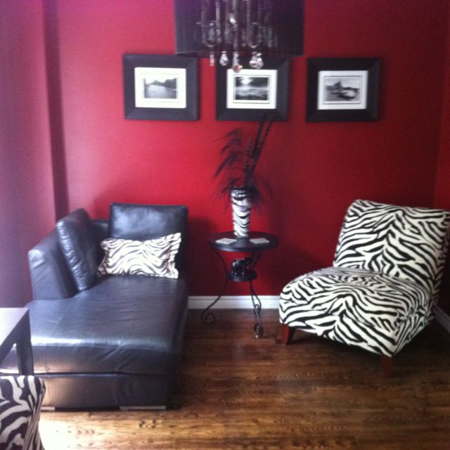 Classic red, black, white