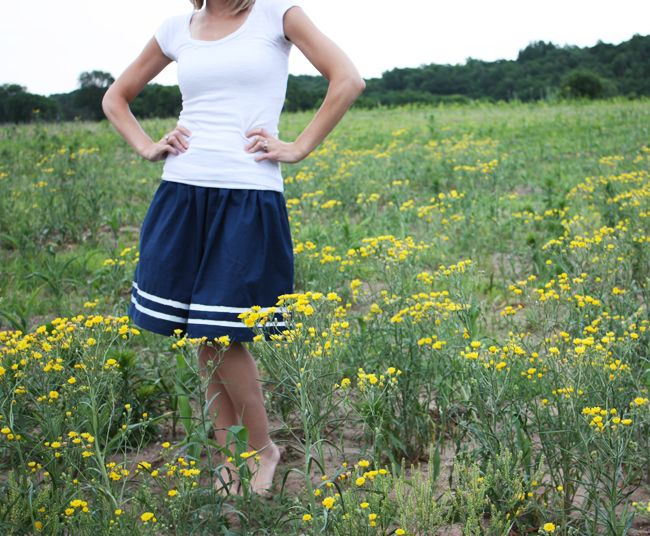 Noodlehead: vintage inspired skirt tutorial