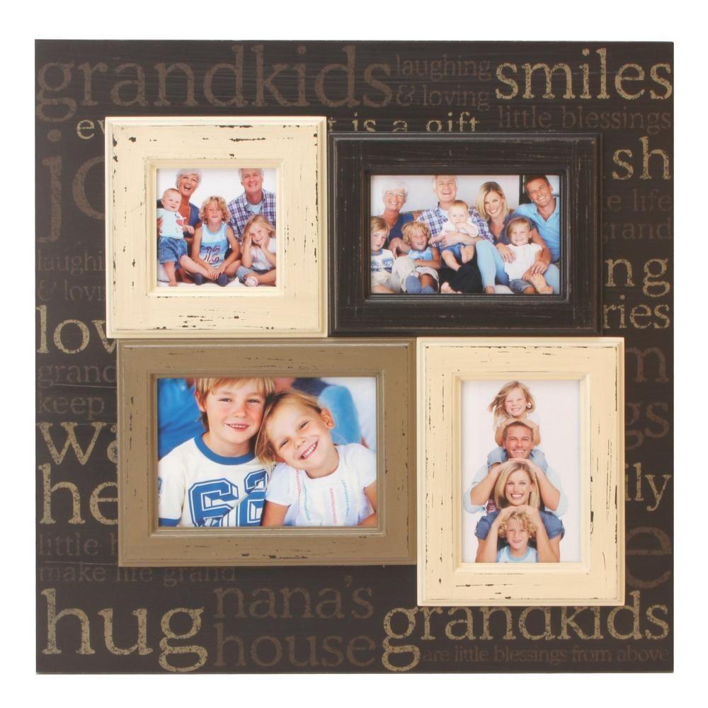 Grandkids Multi Aperture Collage Photo Frame | Father\'s Day ...